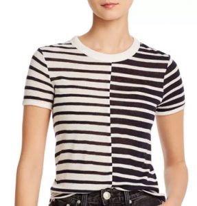 stylish stripe colorblock tshirt work home